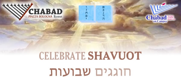 Shavuot meal with Chabad