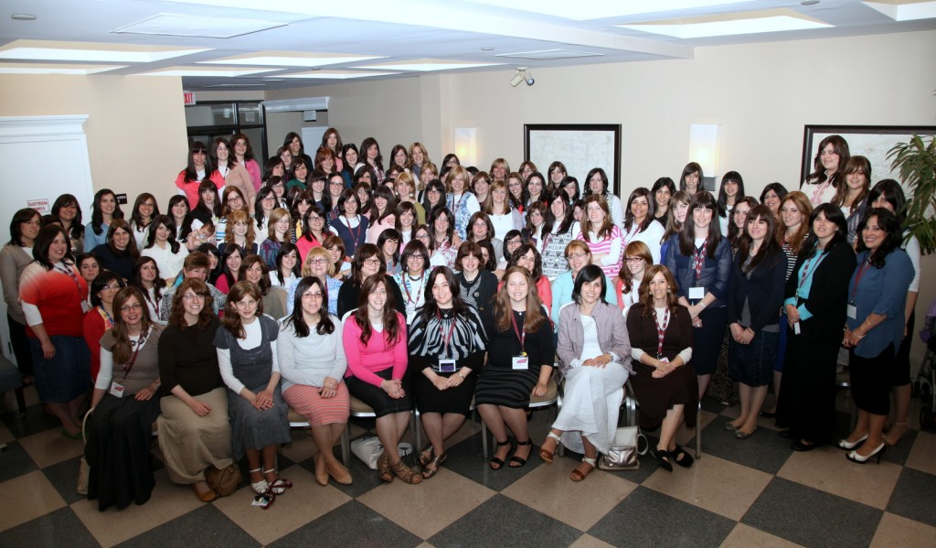 Mrs. Rivkie Lazar in Campus Kinus group photo