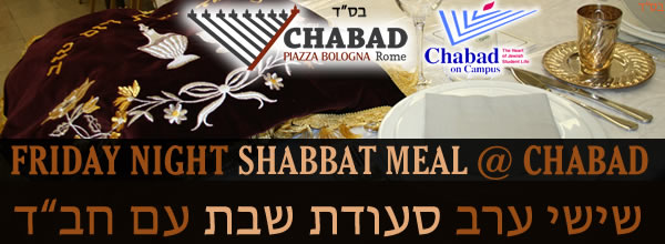 Shabbat Meal with Chabad - 12/16/16