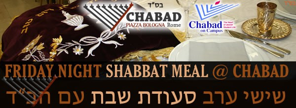 Shabbat Meal with Chabad - 16 Sivan - Parshat Behalotcha