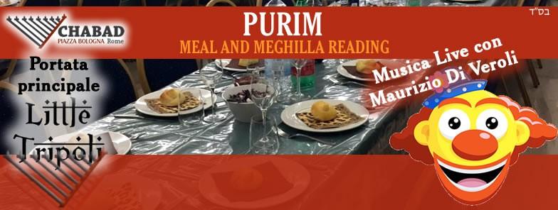Purim Meal and Meghila reading - 2 PM