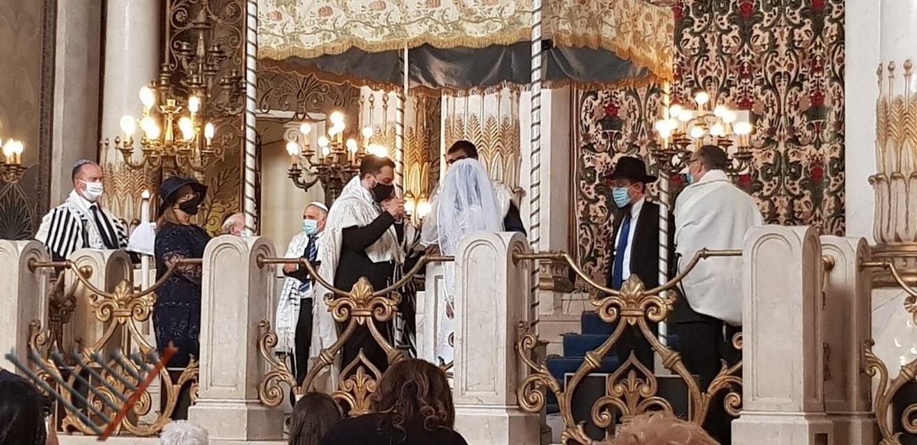 Rome Jews celebrate first Jewish wedding after lockdown