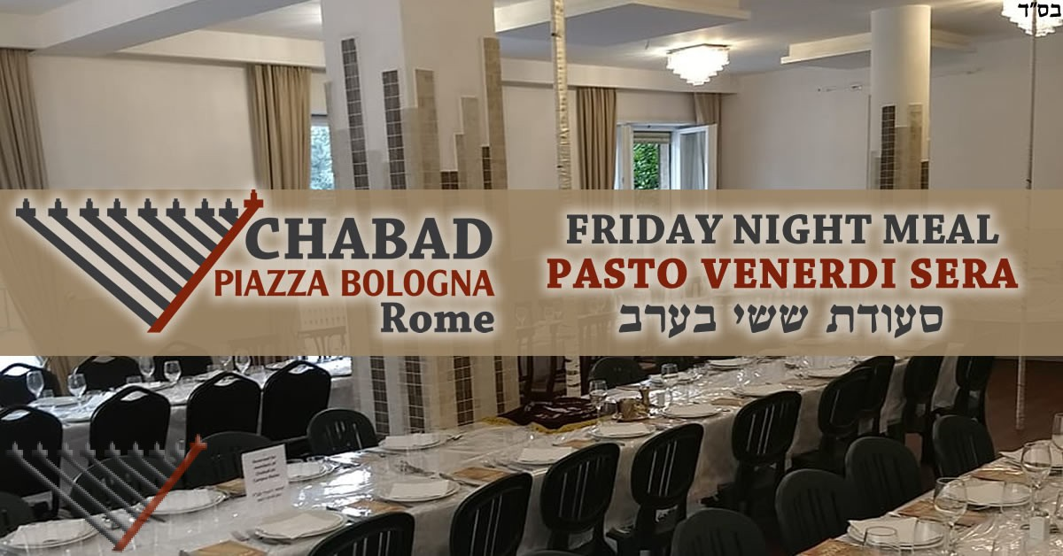 Friday Night Meal with Chabad - 18 Cheshvan - Parshat Vayera